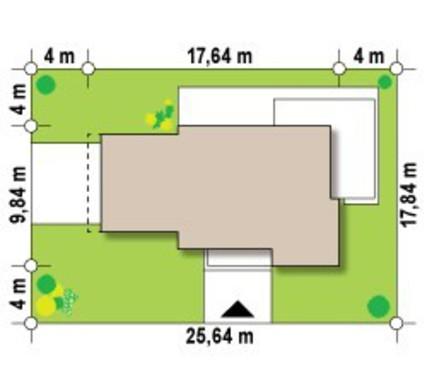 Проект 2-х этажного коттеджа, выполненного в современном стиле