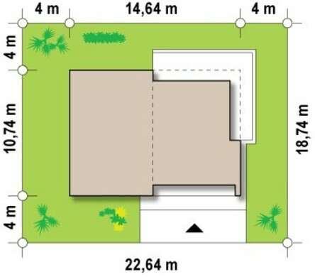 Проект современного одноэтажного коттеджа с застекленной гостиной