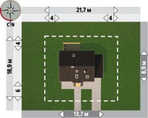 Проект современного коттеджа с пятью спальнями