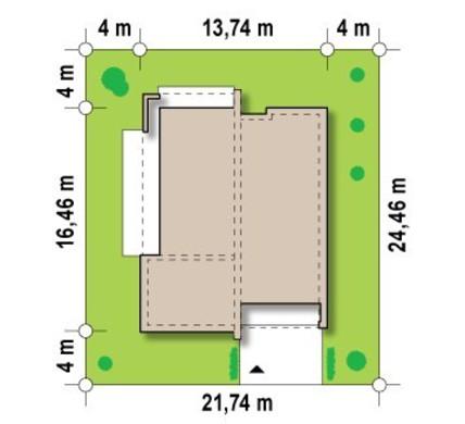 Современный 1 этажный дом с плоской крышей