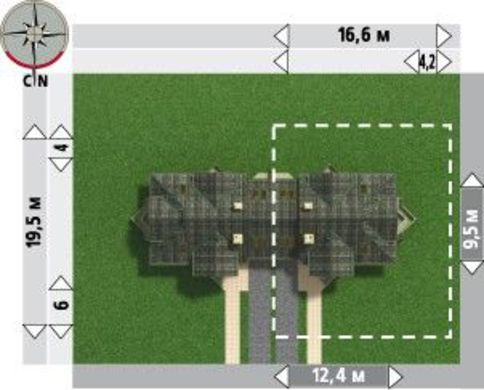Архитектурный проект оригинального дома с балконами и гаражом