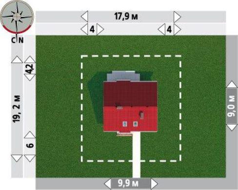 Проект оригинального мансардного коттеджа 140 m²
