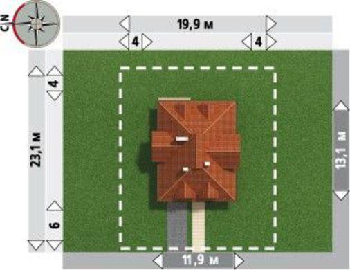 Примечательный проект особнячка более 200 m²