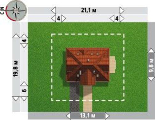 Проект оригинальной усадьбы с мансардой и интересным дизайном
