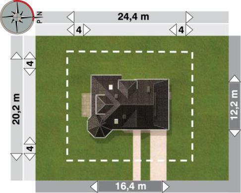 Проект оригинальной усадьбы с площадью 190 m²