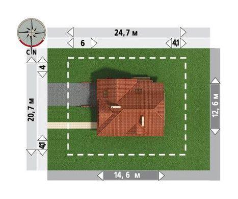 Архитектурный проект роскошного большого коттеджа с цокольным этажом и мансардой