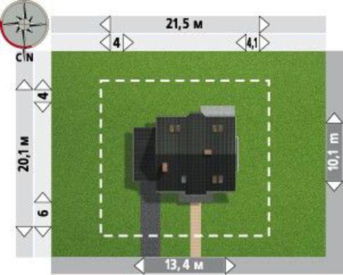 Великолепная загородная усадьба с красивыми комнатами и компактным гаражом
