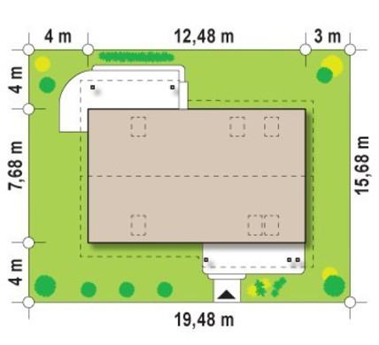 Оригинальный проект просторного мансардного коттеджа