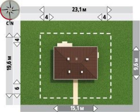 Проект 1 этажного домика с эркером