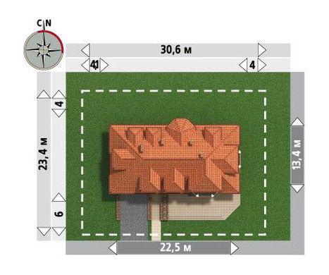 Проект виллы для узкого участка
