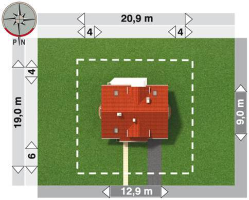 Проект для строительства уютного мансардного дома с эркером