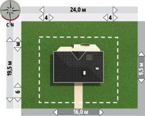 Красивый проект для строительства коттеджа для узкого участка