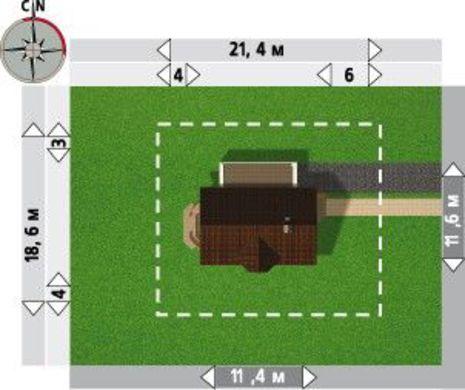 Двухэтажный коттедж на три спальни с эркером