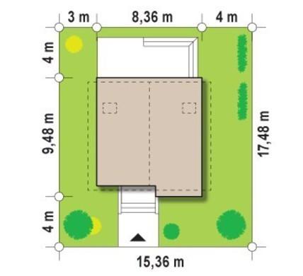 Компактный коттедж с оригинальным фасадом
